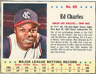 The day Ed Charles made like Jackie Robinson
