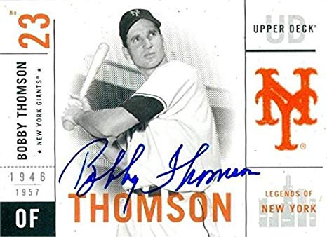 Bobby Thomson had another notable walk-off